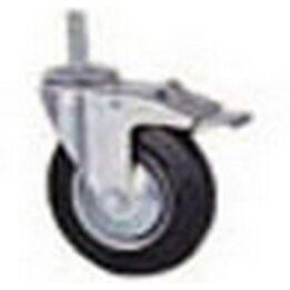 Колесо промышленное поворотное с болтовым креплением и тормозом